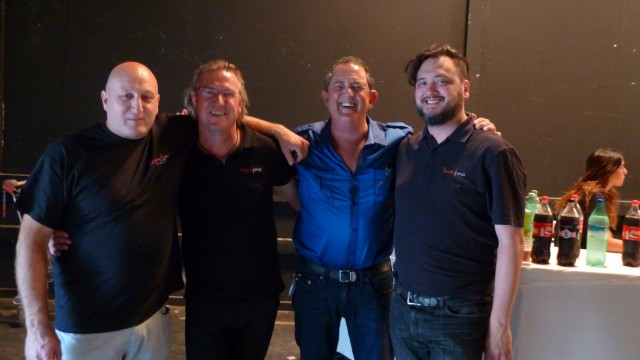 The Band Pro team, from left to right: Ofer Menashe, Martin Kreitl, Amnon Band, Randy Wedick.